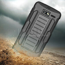 Hybrid Rugged Case Cover Holster For Motorola Droid Razr M XT907 I XT890 Luge