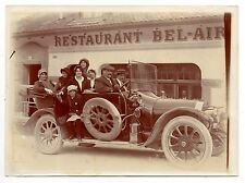 U100 Photographie vintage Originale Voiture ancienne devant restaurant Bel-Air