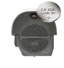 Se adapta a Nissan Micra Almera Primera Xtrail Reemplazo 2 botón Remoto Llavero Funda