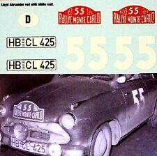 Lloyd Alexander ts Rally de Monte Carlo 1960 #55 1:43 decal estampado