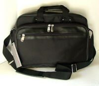 PERRY ELLIS PORTFOLIO Black Nylon Computer Laptop Case Briefcase Bag NEW NWT