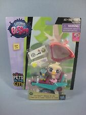 Littlest Pet Shop City Rides Rowdy Opaline Mini Figures on Glider Trike #69 #70