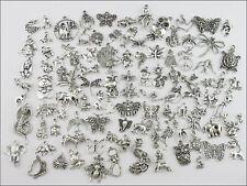 100Pcs Mixed Tibetan Silver Tone Animals Charms Pendants Jewelry Craft DIY F178