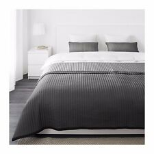 Ikea KARIT Bedspread and 2 Cushion Covers Grey 280x260cm Queen King Bed