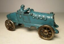 A. C. Williams Cast Iron Blue Boat Tail Racer Race Car Nickel Wheels Hubley