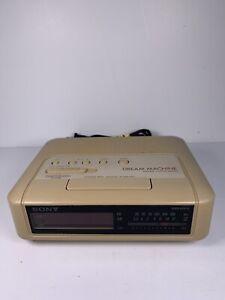 Sony Alarm Clock Retro Model ICF-C240 Dream Machine AM/FM Radio Tested/Works