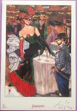 Smudja XL Pin up Champagne & Toulouse Lautrec ,Ex-Libris Fantasmagories N°/signé