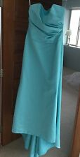 Alfred Angelo womens sz 10 Party Elegant Formal Prom Bridesmaid dress turquoise