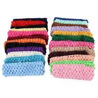 "50 Stretch 1.5"" Crochet Baby Girls Hair Band Headbands ED"