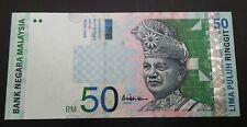 MALAYSIA 10TH RM50 Ali Abu Hassan centre sign UNC