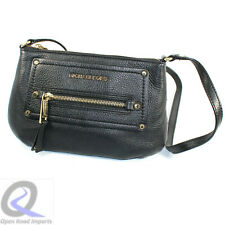 Michael Kors Black Gold Crossbody Satchel Shoulder Leather Handbag Purse