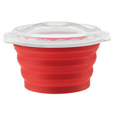 Cuisinart Collapsible Microwave Popcorn Maker Red Silicone Vented Lid A