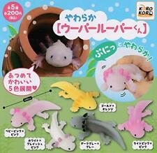 Soft Axolotl kun Gashapon 5set complete mini figure toys