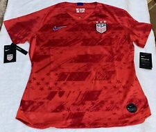 NIKE US USA National Team 2019 Red Stadium S/S Away Soccer Jersey NEW Womens M L