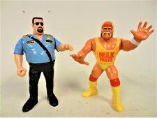 Hulk Hogan Wrestling Action Figure (1990) and Big Boss Man (1991) Titan Sports