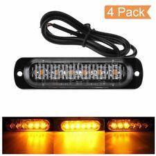 4 x 6 LED Lampeggiante Emergenza Avvertimento Luci Ambra Arancione Anteriore