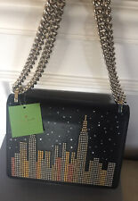 NWT Kate Spade Glitzy Ritzy New York Skyline Marci Shoulder Bag LED $428.00