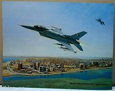 Bahrain Amiri Air Force Fighter Squadron Lockheed F-16C Falcon Painting Print