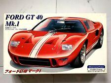 FUJIMI 1/24 FORD GT40 MK1 SPORTS CAR PLASTIC MODEL KIT  ITEM # 12132 OPEN BOX