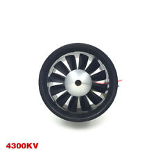 12-Blade 64mm Duct Fan 4300KV Brushless Motor 3S Version for RC EDF Jet AirPlane
