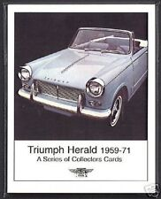 TRIUMPH HERALD 1959-71 Collectors Card Set - 1200 12/50 13/60 Convertible Estate