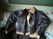 Sheepskin And Leather Bomber Jacket