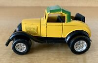 Vintage Tootsie toy Die-Cast Customized Model A Roadster Yellow Green Paint VTG