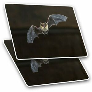 2 x Rectangle Stickers 10 cm - Pipistrelle Gothic Flying Bat #15730