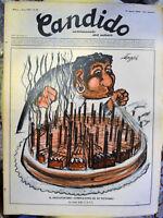 RIVISTA D'EPOCA CANDIDO N.33 1952 DIRETTORE GIOVANNINO GUARESCHI