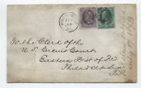 1873 24ct banknote #153 on domestic cover with certificate [y1429]