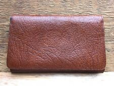 Vintage Brown Leather Wallet/Brown/Fold Up/Card Case/ID/Retro/50's60's/Unisex