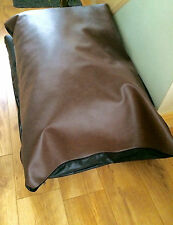 Faux Leather Pet Dog Bed - Extra Large - Brown removable inner size 55x35x9 inch