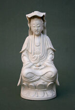 ANTIQUE CHINESE BLANC DE CHINE GUANYIN SIGNED - FRENCH FLEA MARKET FIND