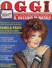 OGGI N°52/ 27/DIC/1995 * PAMELA PRATI * SIMONA VENTURA * RITA DALLA CHIESA *
