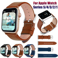 Genuine Leather Watch Band For Apple Watch Series 5 4 3 2 1 38/42/40/44mm Strap