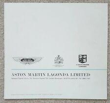 Aston Martin  DB6 Saloon & Volante Brochure