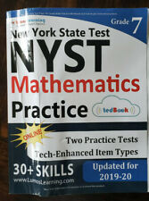 NEW YORK STATE TEST PREP: 7TH GRADE MATH PRACTICE WORKBOOK By Lumos Learning NEW