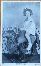 Shirley Temple 1930s Fox Film Movie Star Postcard: Riding Toy Camel