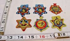 POST'S CEREAL HOPALONG CASSIDY WESTERN STARS TIN BADGES X6 1950s