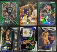 Lot of (6) Magic Johnson, Including Old School Green, Prizm Green & more inserts