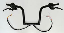 "14"" BLACK FRISCO APE HANGERS HANDLEBARS HAND CONTROL SWITCHES 1-1/4"" BARS HARLEY"