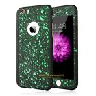 360° Full Body Hybrid Hard Case Cover + Tempered Glass For iPhone 5 6s 7 Plus