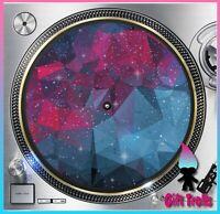 "Geometric Galaxy #3 Turntable Slipmat 12"" LP Record Player, DJ Space Orbit"