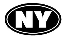 NY Vinyl Decal Sticker Car Window Wall Bumper NEW YORK State Abreviation Yankees