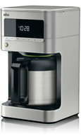 Braun BrewSense Drip 10 Cup Coffee Maker with Thermal Carafe - Stainless Steel