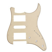1 Cream Electric Guitar Pickguard Scratch Plate For Fender Strat HSH 3 Ply PVC