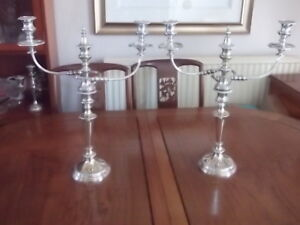 STUNNING PAIR OF 19TH CENTURY HAWKSWORTH, EYRE AND CO SILVER PLATED SHEFFIELD TW