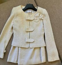 Authentic Chanel Suit  skirt Jacket Blazer size 38 France