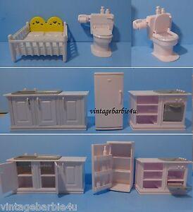 Vintage Seven Towns Doll House Furniture Nursery Kitchen Mattel Barbie Kelly sz