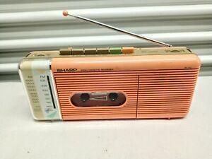 Vintage '80's Sharp Boombox AM/FM Radio Cassette Player QT-5(P) Excellent
